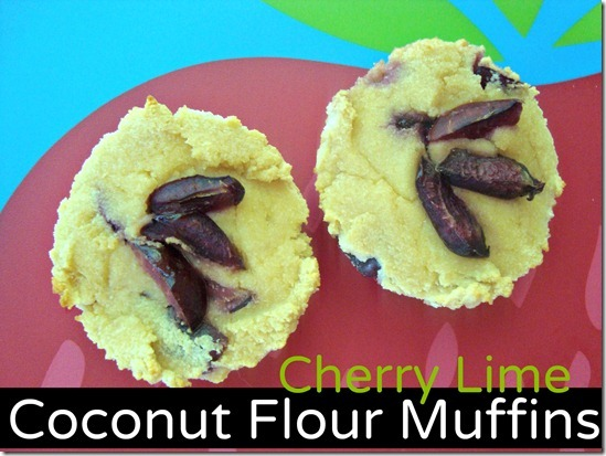 cherry lime coconut muffins