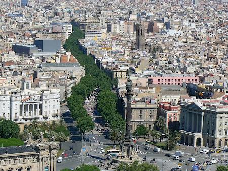 Obiective turistice Barcelona: Ramblas, strada pietonala