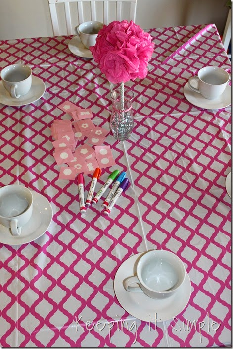 Little Girl Birthday Party Idea Tea Party with Stations (15)