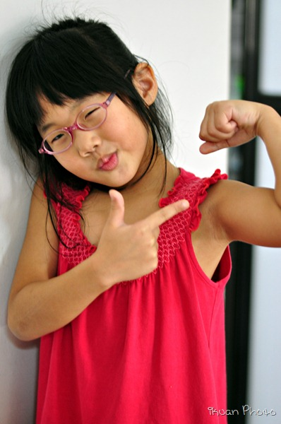 Girl little muscle My Little