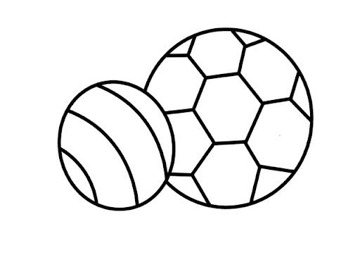 4 pelotas para colorear - Imagui