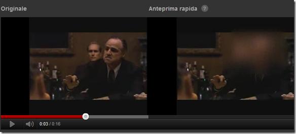 Anteprima video con volti occultati usando la funzione Occulta tutti i volti di YouTube