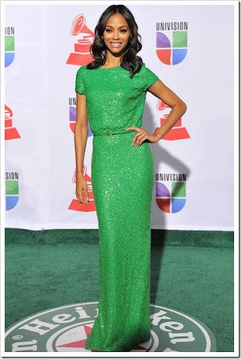 Vestido de fiesta largo color verde