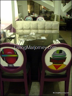 Robotan's  chairs and tables