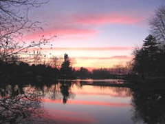 11.2011 Maine Raymond sunset3