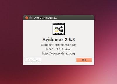 Avidemux 2.6.8 - info