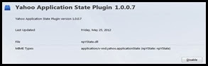 current version plugin yahoo aplication state addon