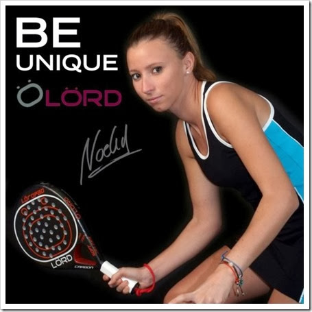 La jugadora Noelia Márquez Rite nueva imagen de la firma LÖRD Pádel hasta 2015.