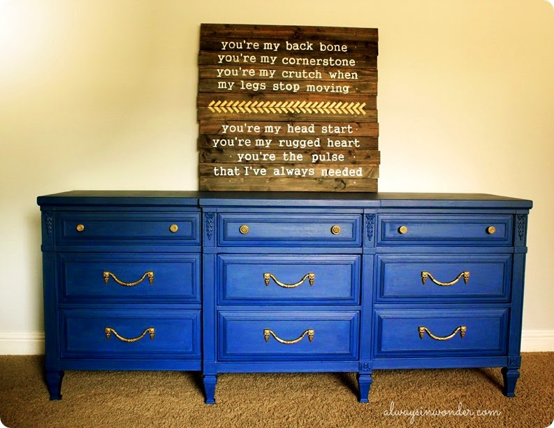 DRESSER MAKEOVER USING ANNIE SLOAN NAPOLEONIC BLUE CHALK PAINT