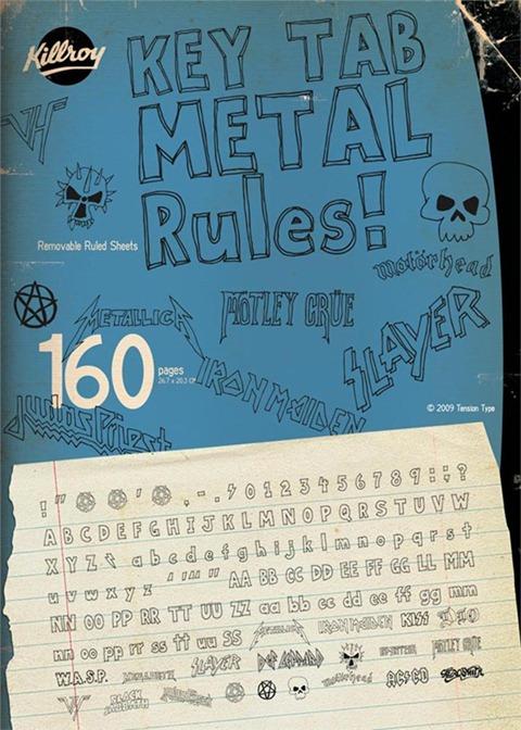 20-Key-Tab-Metal-font