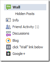 google plus tab in facebook sidebar