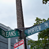 Entrance is at corner of Porter St and Orleans St.