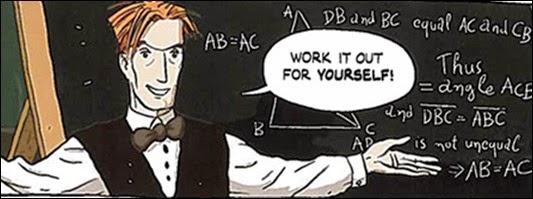 Bertrnad Russell em logicomix aula de matemática