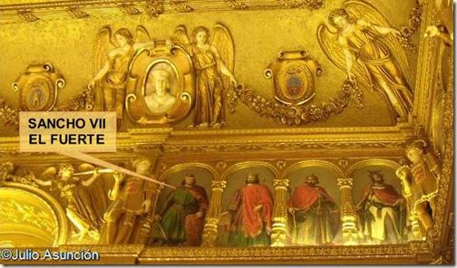Sancho el Fuerte en el Salón del trono del Palacio de Navarra