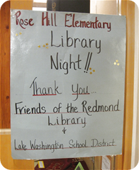Library Night - sponsored by the Friends of the Redmond Library