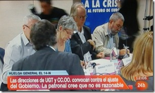 Greve Geral em Espanha 14 Novembro.Out.2012