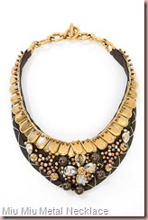 Miu Miu Metal Necklace