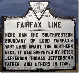 Fairfax Line Marker A-36 in Shenandoah County, VA