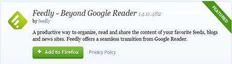 ย้ายจาก google reader มายัง feedly