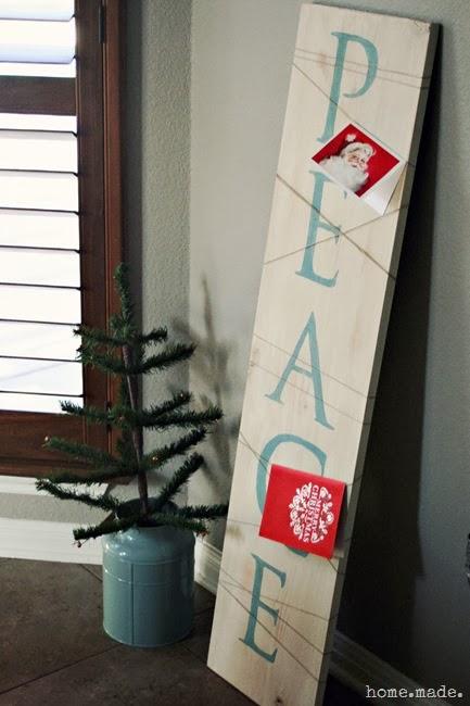 Christmas Card Holder Sign