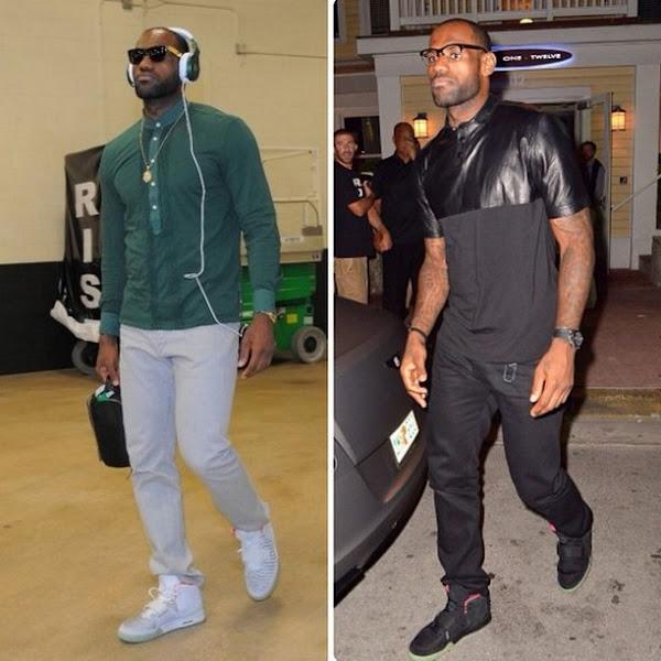 King8217s Feet LeBron Breaks Out Nike Air Yeezy II Twice