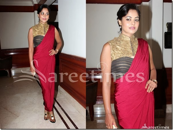 Bindu_Madhavi_Shantanu_and_Nikhil_Saree