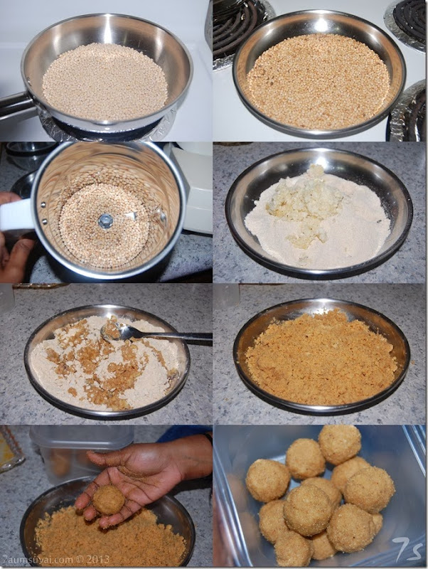 Black gram laddu or ulunthu laddu process