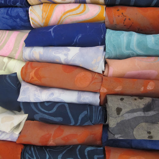 I love the marble pattern scarves available at ilanakohn.bigcartel.com/catergory/scarves.