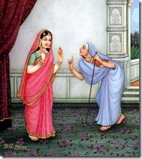 Manthara manipulating Kaikeyi