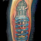 bumper car - Leg Tattoos Designs