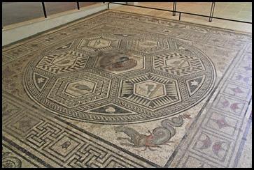 v museum peacock mosaic