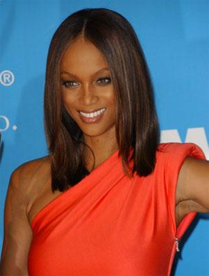 Tyra Banks medium hair style