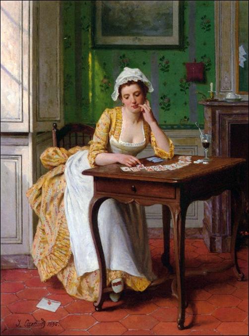 Joseph Caraud, La soubrette au jeu de cartes