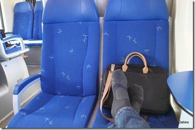 オランダの電車に乗って、やっと足を伸ばせたァ~