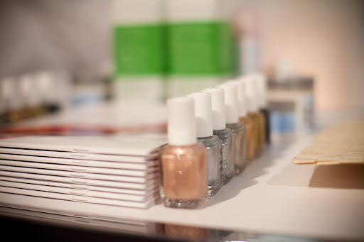 A manicure station was set up by Essie. Party goers were lining up to have their nails done -- in metallic shades, of course.