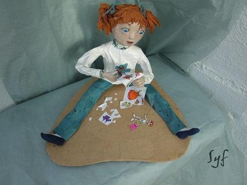 muñeca papel mache 4