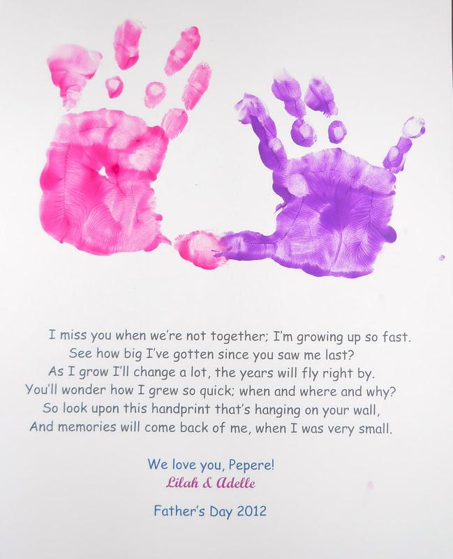 Happy Mothers Day Kids Footprint Handprint Crafts