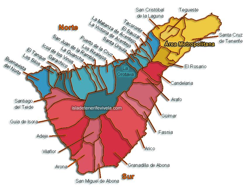 Municipios de Tenerife – Alfabético