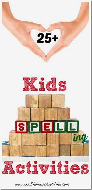 25 kids spelling activities for kids - so many fun, easy-to-do spelling ideas for kids from Kindergarten to 1st grade, 2nd grade, 3rd grade, 4th grade, and 5th grade students (homeschool language arts)
