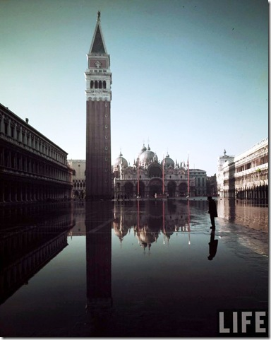 Basilica of San Marco & campanile on Piazza San Marco, by Dmitri Kessel 1952