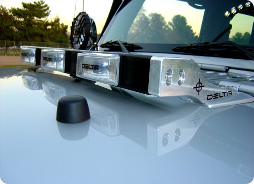 Delta Hood Light Bar was specifically developed for Jeep Wrangler JK & TJ