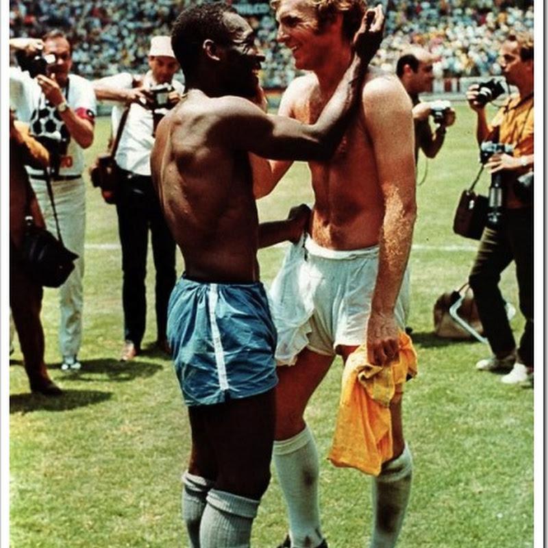 Pelé e Bobby Moore, o encontro de dois gênios do futebol