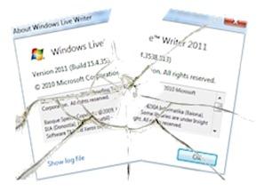 Windows Live Writer broken