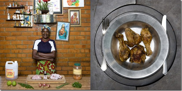 Joyce Muape, 49 years old, Kalulushi, Zambia. Inkoko Nama Spices, Roasted spiced chicken