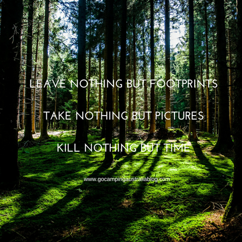 Leave nothing but footprints