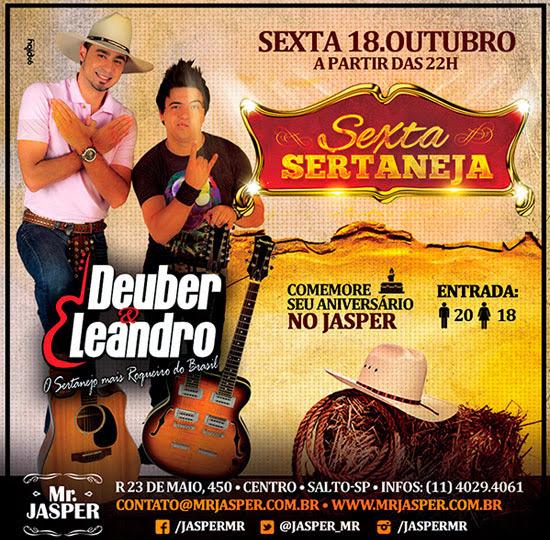 Deuber & Leandro no Mr. Jasper em Salto
