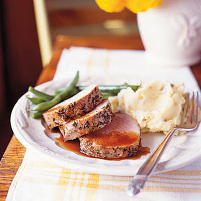 Spiced Pork Tenderloin with Maple-Chipotle Sauce