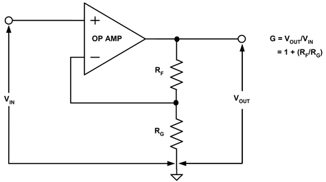 The non-inverting op amp stage (voltage follower)
