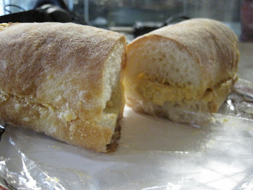 Shavon's pimento cheese sandwich.
