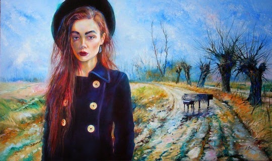 Женские портреты Влодзимеж Куклински (24 фото) | Картинка №6